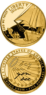 5 dollar coin The Star-Spangled Banner  | USA 2012