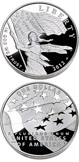 1 dollar coin The Star-Spangled Banner  | USA 2012
