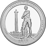 50 cents Perry's Victory and International Peace Memorial  - 2013 - Series: America the Beautiful Quarters - USA