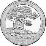 50 cents Great Basin National Park  - 2013 - Series: America the Beautiful Quarters - USA