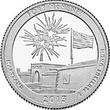 50 cents Fort McHenry National Monument and Historic Shrine - 2013 - Series: America the Beautiful Quarters - USA