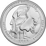 50 cents Mount Rushmore National Memorial - 2013 - Series: America the Beautiful Quarters - USA