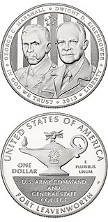 1 dollar 5-Star Generals - 2013 - Series: Commemorative silver 1 dollar coins - USA