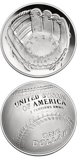 1 dollar National Baseball Hall of Fame - 2014 - Series: Commemorative silver 1 dollar coins - USA
