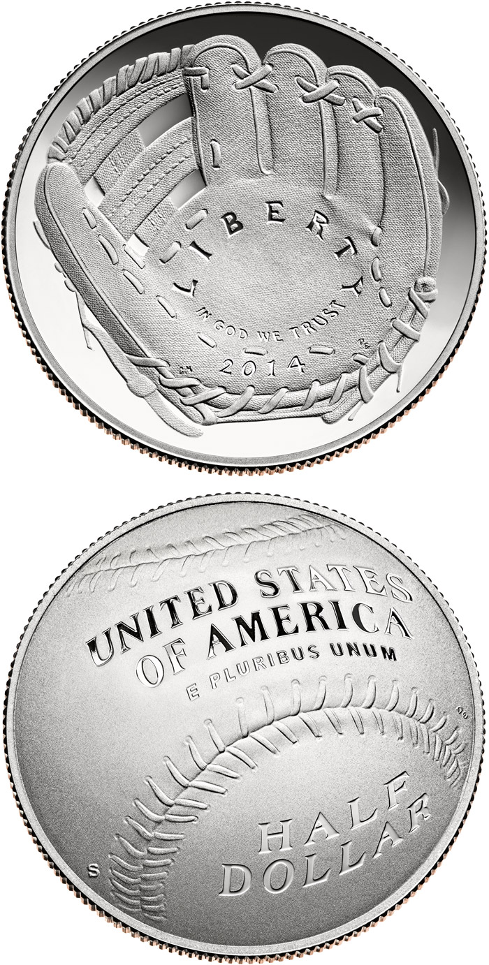 0.5 dollar National Baseball Hall of Fame - 2014 - Series: Half-dollars  - USA
