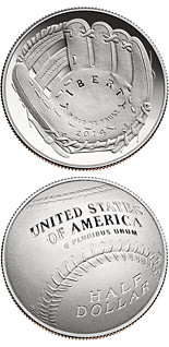 0.5 dollar coin National Baseball Hall of Fame | USA 2014