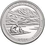 25 cents coin Great Sand Dunes National Park  | USA 2014