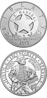 1 dollar 2015 U.S. Marshals Service 225th Anniversary - 2015 - Series: Commemorative silver 1 dollar coins - USA