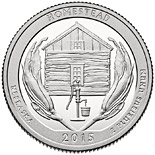 25 cents Homestead National Monument of America - 2015 - Series: America the Beautiful Quarters - USA