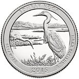 25 cents coin Bombay Hook National Wildlife Refuge | USA 2015