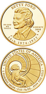 10 dollars Betty Ford - 2016 - Series: First Spouse Gold Coins - USA