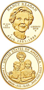 10 dollar coin Nancy Reagan  | USA 2016
