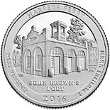 25 cents coin Harpers Ferry National Historical Park | USA 2016