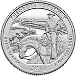 25 cents coin Theodore Roosevelt National Park | USA 2016