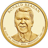 1 dollar Ronald Reagan - 2016 - Series: The Presidential 1 Dollar Coins - USA