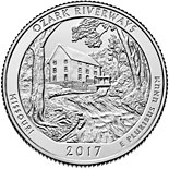 25 cents coin Ozark National Scenic Riverways | USA 2017