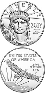 100 dollar coin American Eagle Platinum One Ounce Proof Coin | USA 2017