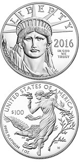 100 dollar coin American Eagle Platinum One Ounce Proof Coin | USA 2016