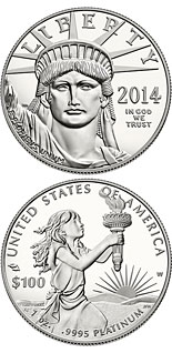 100 dollar coin American Eagle Platinum One Ounce Proof Coin | USA 2014