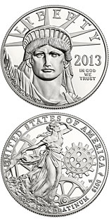 100 dollar coin American Eagle Platinum One Ounce Proof Coin | USA 2013