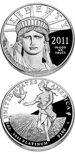 100 dollar coin American Eagle Platinum One Ounce Proof Coin | USA 2011