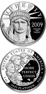 100 dollar coin American Eagle Platinum One Ounce Proof Coin | USA 2009