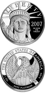 100 dollar coin American Eagle Platinum One Ounce Proof Coin | USA 2007