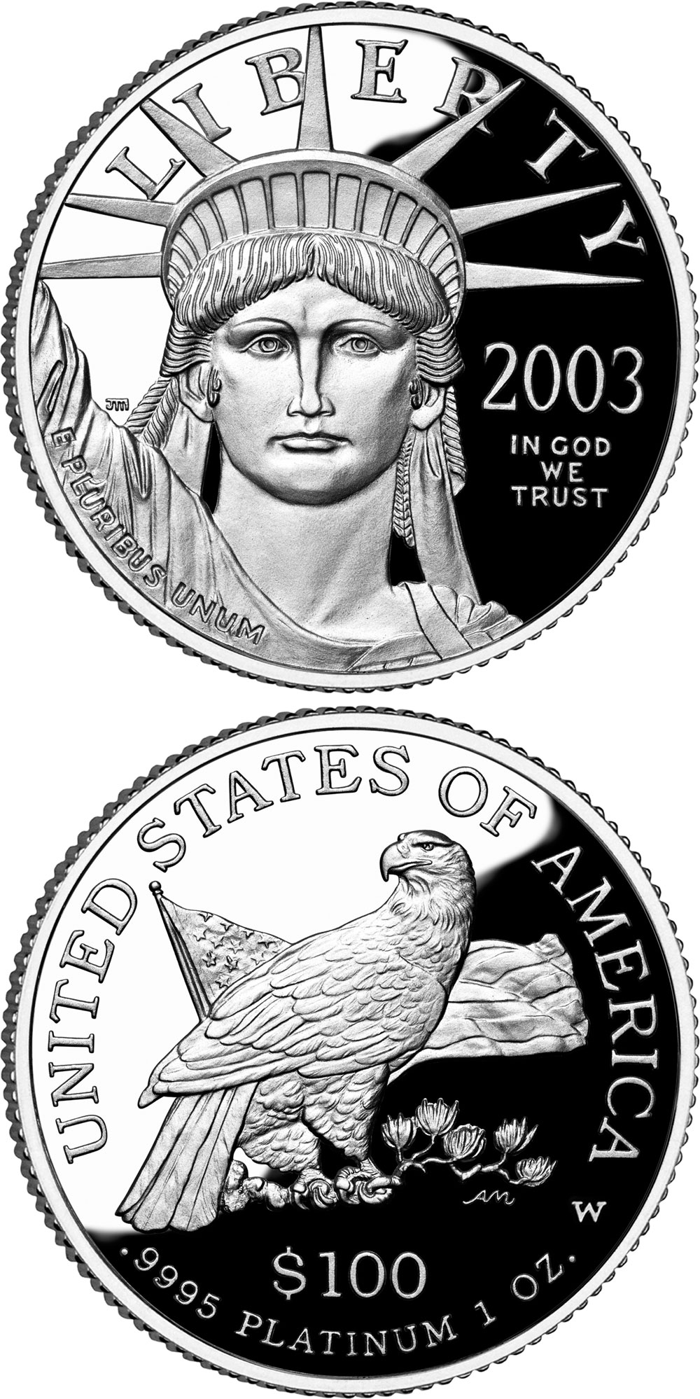 eagle platinum states commons wikimedia wiki coin united file
