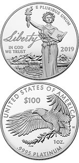100 dollar coin The Liberty | USA 2019