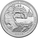 25 cents coin Apostle Islands National Lakeshore | USA 2018