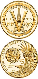 5 dollar coin American Legion 100th Anniversary | USA 2019