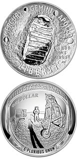 1 dollar coin Apollo 11 50th Anniversary | USA 2019