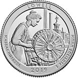 25 cents coin Lowell National Historical Park | USA 2019