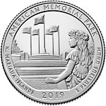 25 cents coin American Memorial Park | USA 2019