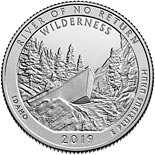 25 cents coin Frank Church River of No Return Wilderness | USA 2019