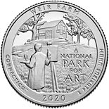 25 cents coin Weir Farm National Historic Site | USA 2020