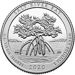 25 cents coin Salt River Bay National Historical Park and Ecological Preserve | USA 2020