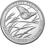 25 cents coin Tallgrass Prairie National Preserve Site | USA 2020