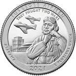 25 cents coin Tuskegee Airmen National Historic Site | USA 2021