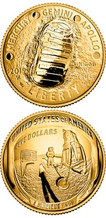 5 dollar coin Apollo 11 50th Anniversary | USA 2019
