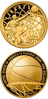 5 dollar coin Basketball Hall of Fame | USA 2020