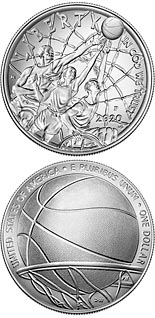 1 dollar coin Basketball Hall of Fame | USA 2020
