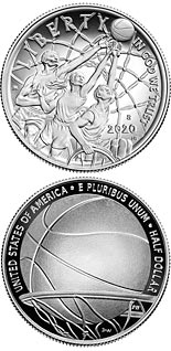 0.5 dollar coin Basketball Hall of Fame | USA 2020