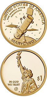 1 dollar coin Maryland - Hubble Space Telescope | USA 2020