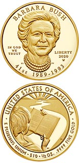 10 dollar coin Barbara Bush | USA 2020