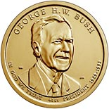 1 dollar coin George H.W. Bush | USA 2020