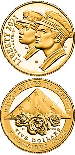 5 dollar coin National Law Enforcement Memorial and Museum | USA 2021