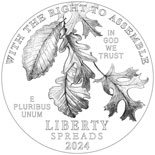100 dollar coin Right to Assemble | USA 2024