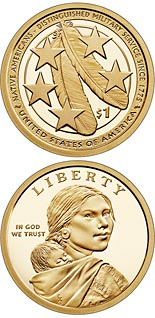 1 dollar coin American Indians in the U.S. Military | USA 2021
