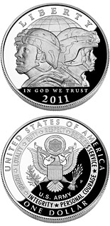 1 dollar United States Army  - 2011 - Series: Commemorative silver 1 dollar coins - USA